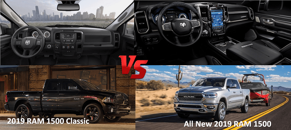 2019 Ram 1500 vs 2019 Ram 1500 Classic interior look and exterior design