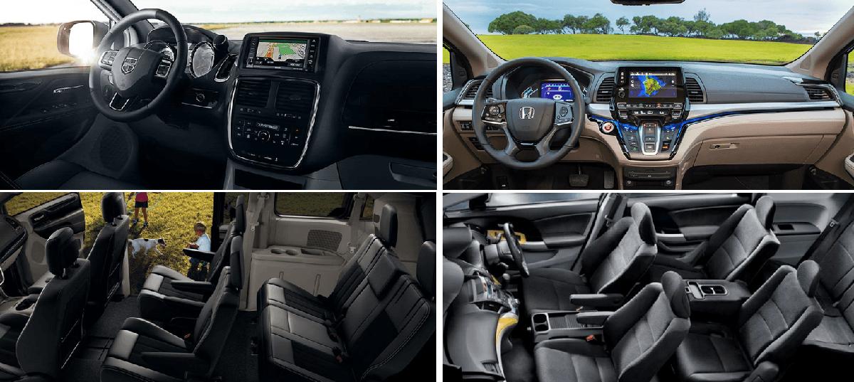 2020 Dodge Grand Caravan vs 2020 Honda Odyssey Interior and Seating Compared